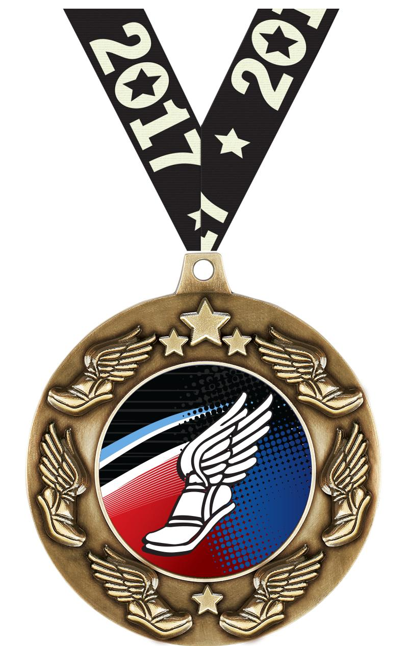 "2 1/4"" Winged Foot Majestic Medals"