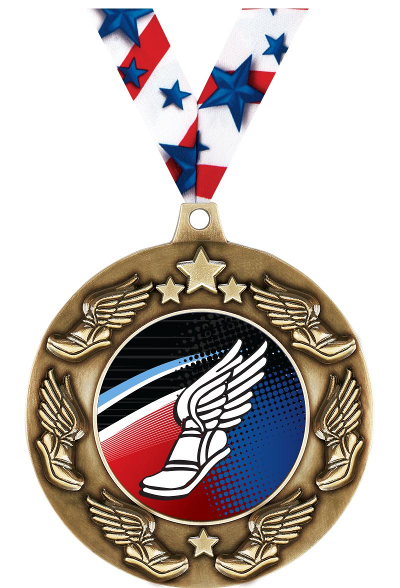 """2 1/4"""" Winged Foot Majestic Medals"""