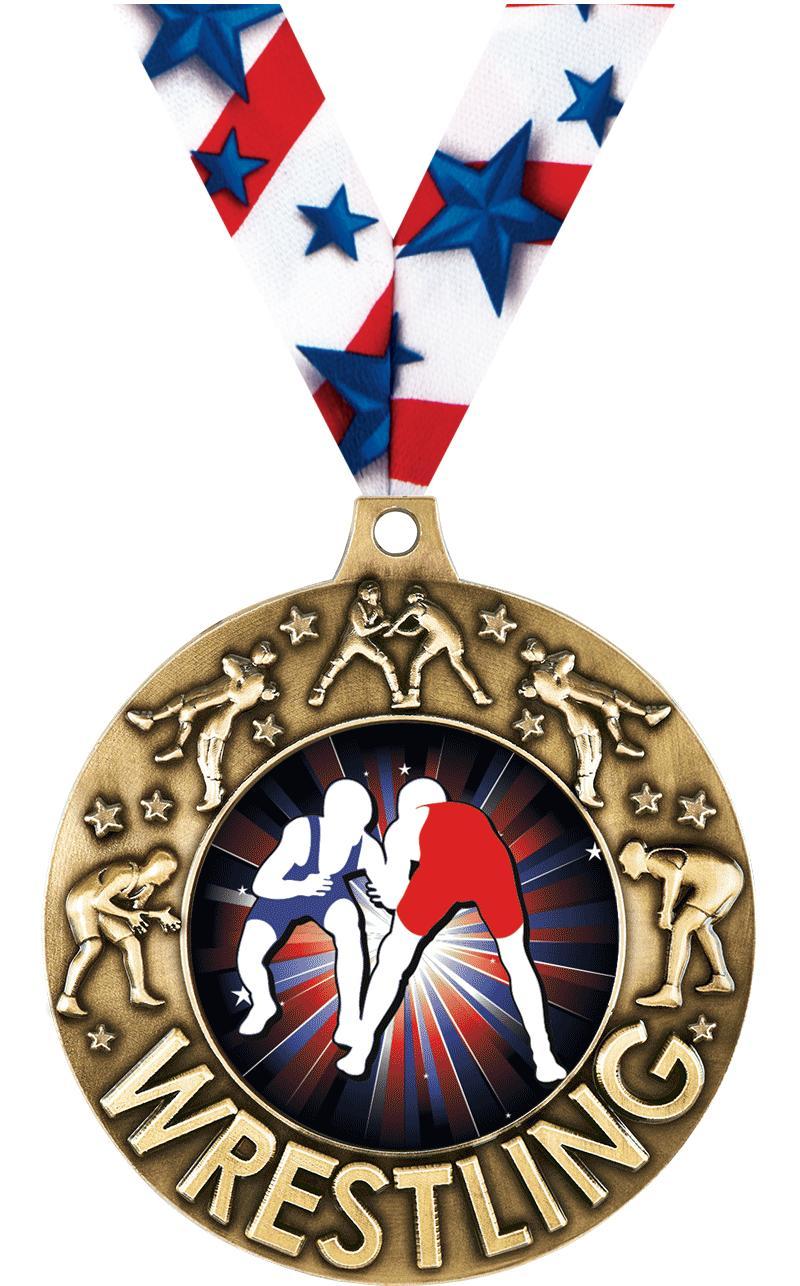 """2 1/4"""" Wrestling Majestic Medals"""