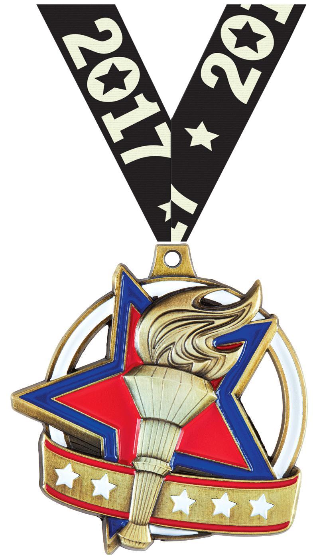 "2"" Torch Liberty Medal"
