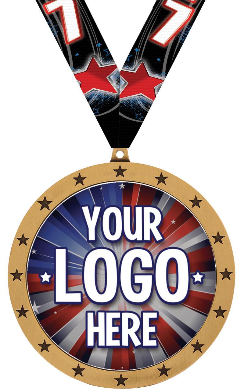 """4"""" Colossal Custom Insert Medal"""