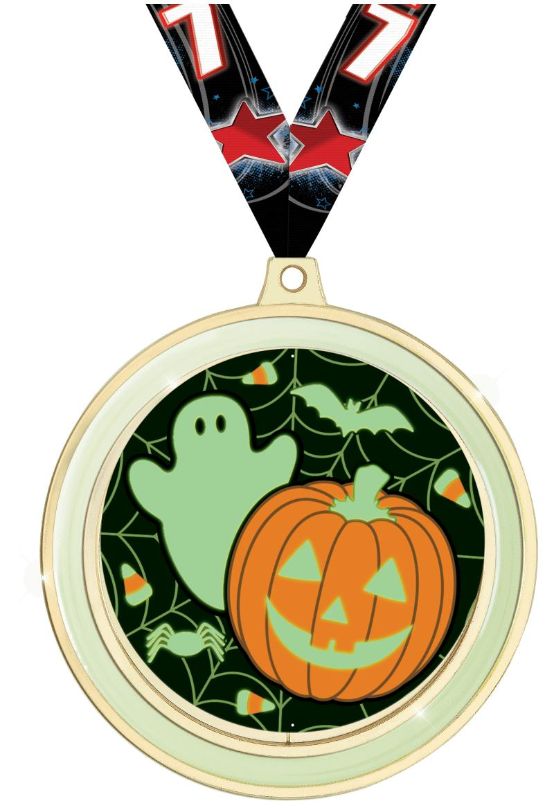 Glow In The Dark Halloween Medal