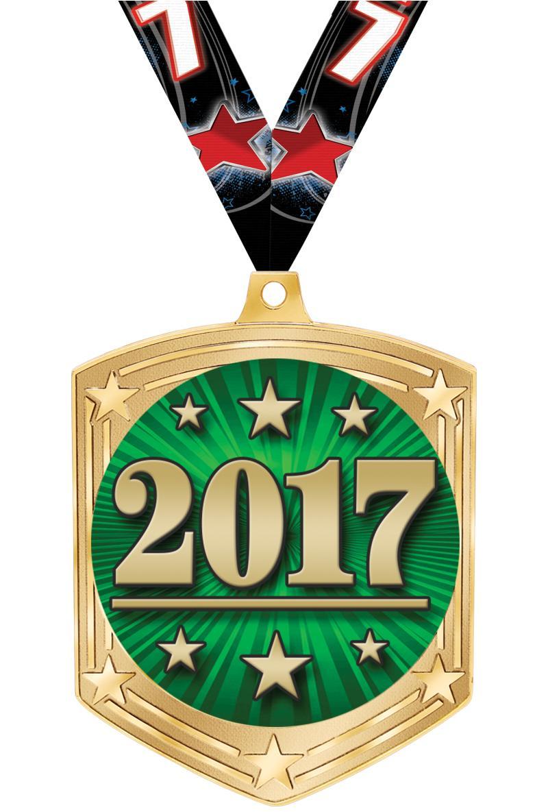"2 3/4"" Atomic Shield Insert Medal"