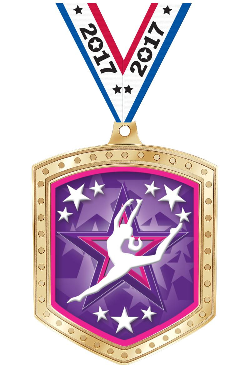 """2 3/4"""" Marquee Shield Insert Medals"""