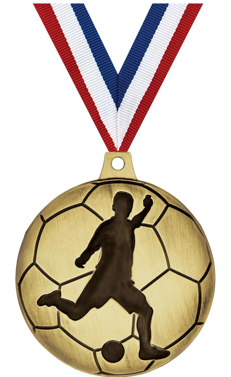 Male Soccer Silhouette Medals