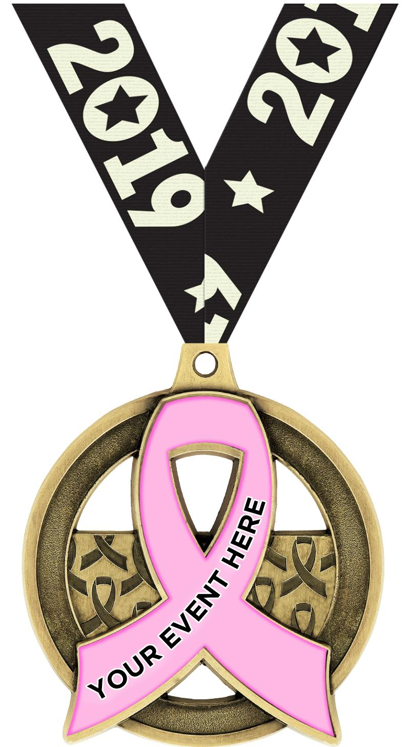 "2""AWARENESS RIBBON CUS MDL GLD"