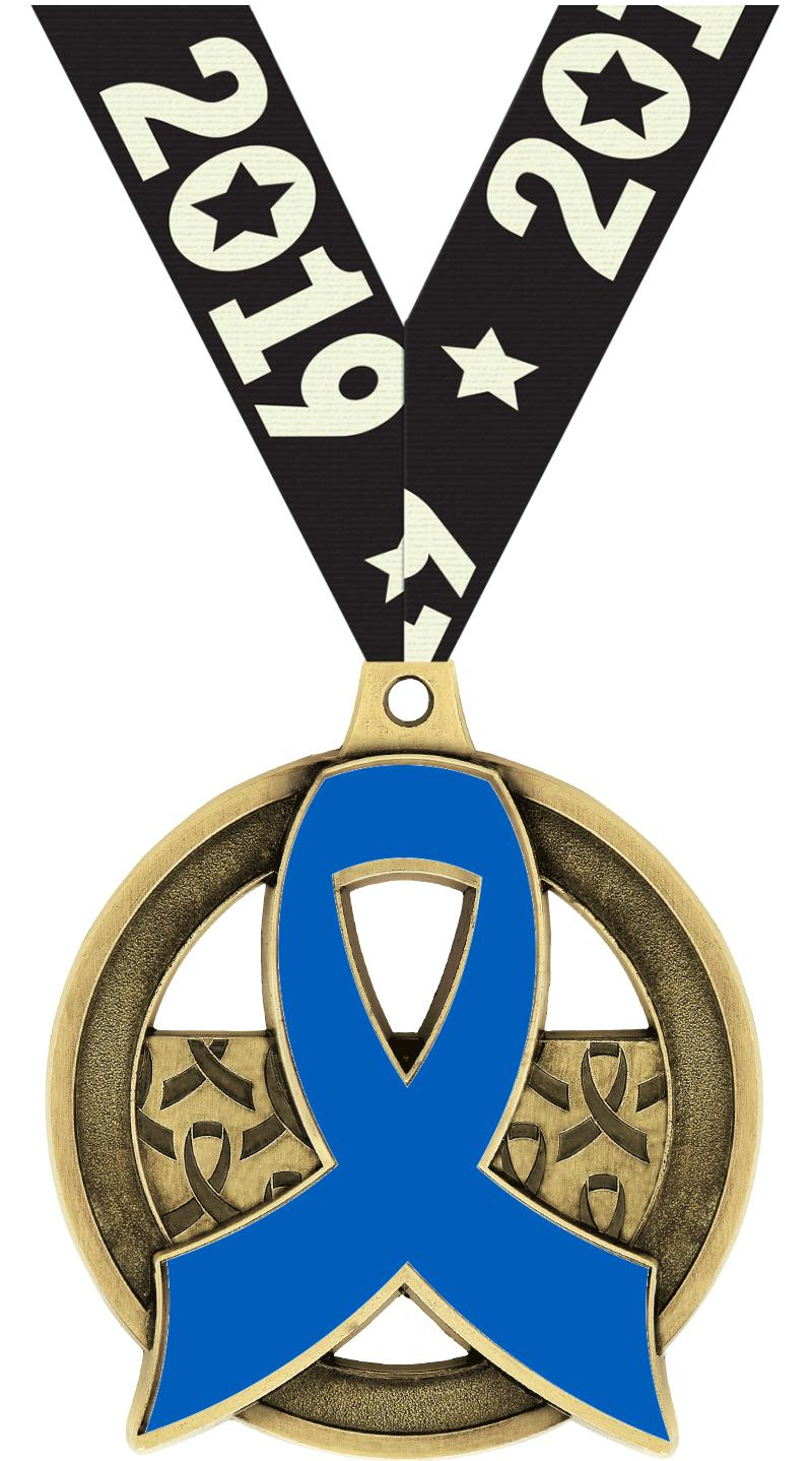 "2""AWARENESS RIBBON INS MDL GLD"