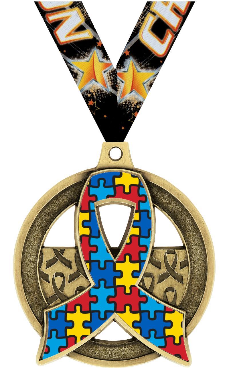"""2"""" Awareness Insert Medal"""
