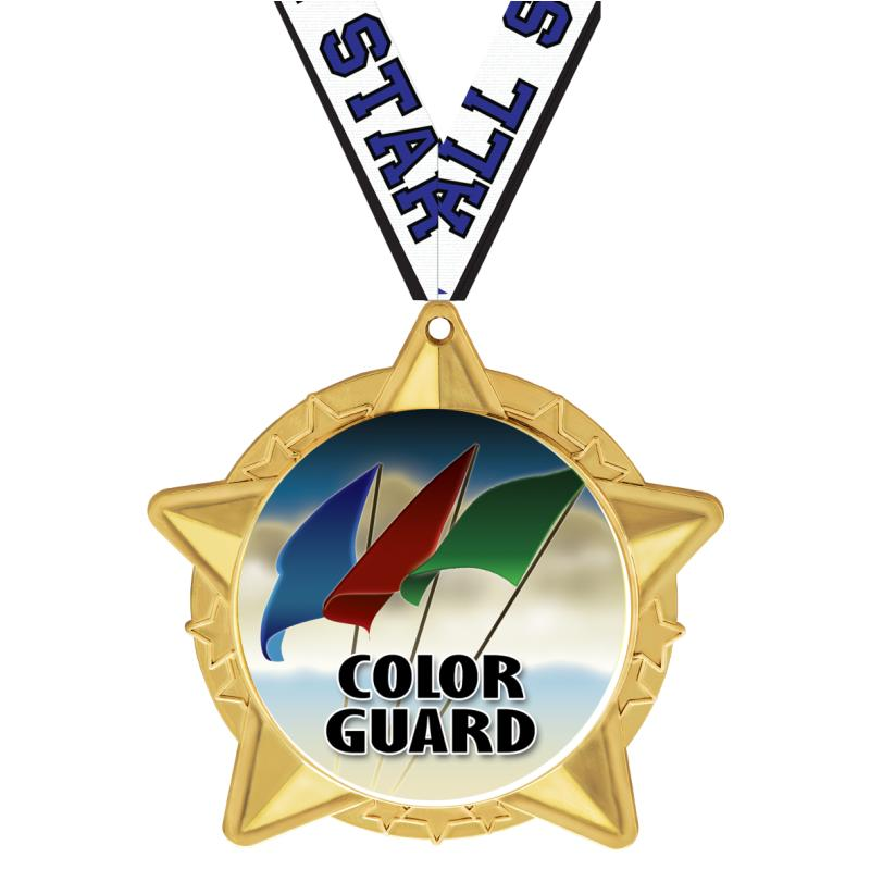 Color Guard Medalsdogtags Crown Awards