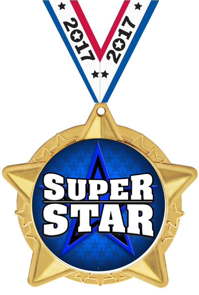 "2 1/2"" Star Cluster Insert Medals"