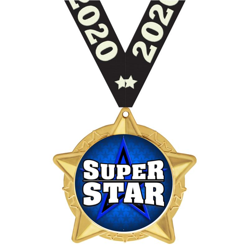 """2.5""""STAR CLUSTER INSRT MDL GLD"""