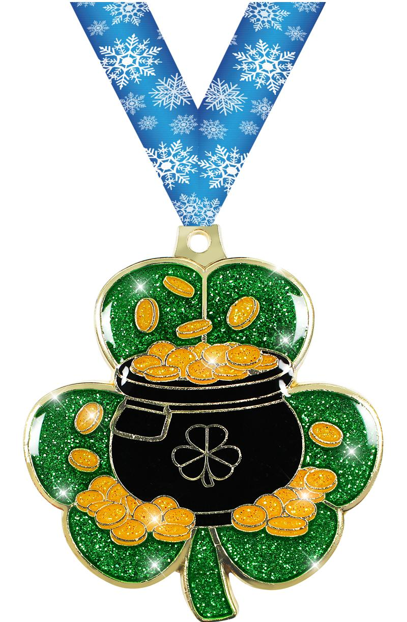 "2.5"" ST PATRICKS DAY GOLD MDL"