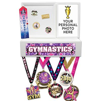 Gymnastics Medals Wall Mount Display