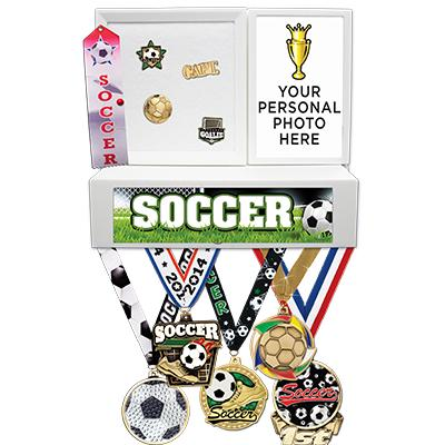 Soccer Medals Wall Mount Display