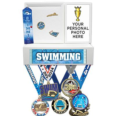 Swimming Medals Wall Mount Display
