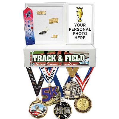 Track & Field Medals Wall Mount Display