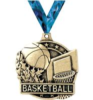 "2"" i9 Sports 3D Basketball Medals"
