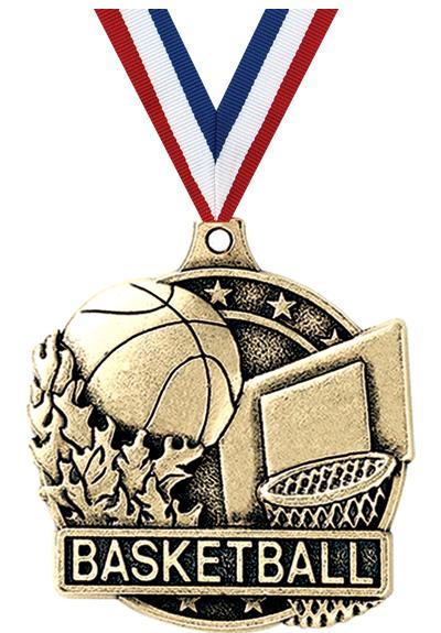 "2"" i9 3D Basketball Medals"