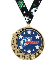 "2 3/4"" i9 Sports Crescent Soccer Insert Medals"