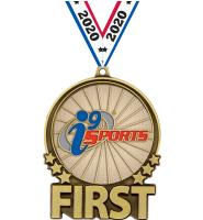 """3"""" i9 Sports Double Action First Gold Medal"""