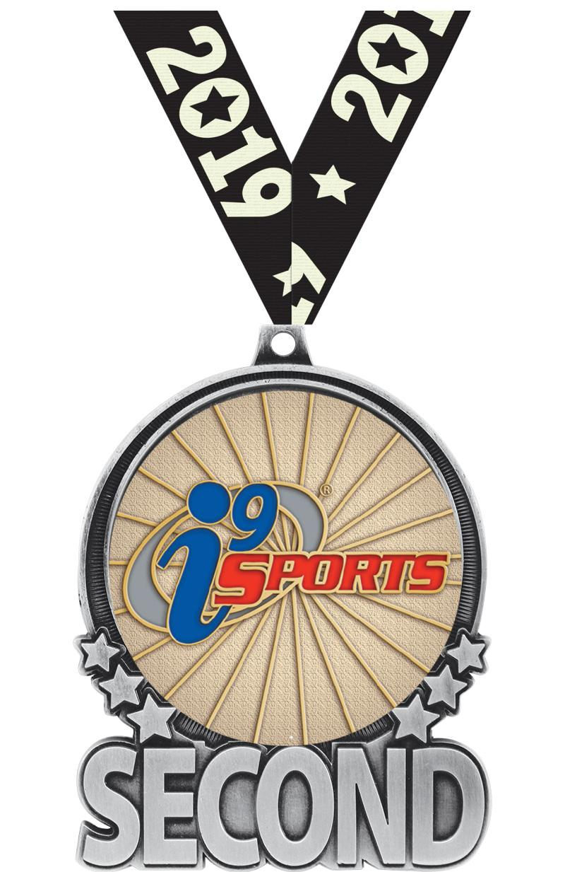 """3"""" i9 Sports Double Action Second Silver Medal"""
