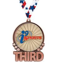 """3"""" i9 Sports Double Action Third Bronze Medal"""