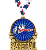 "3"" i9 Sports Double Action Basketball Medals"