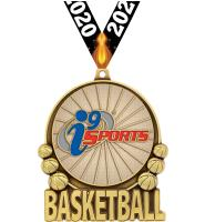 """3"""" i9 Sports Double Action Basketball Medals"""