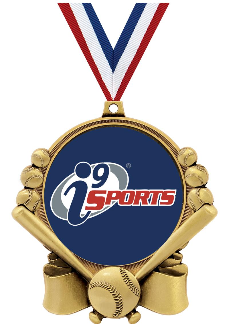 """3"""" i9 Double Action Baseball Medals"""