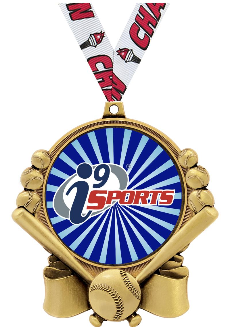 "3"" i9 Double Action Baseball Medals"