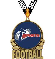 "3"" i9 Sports Double Action Football Medals"