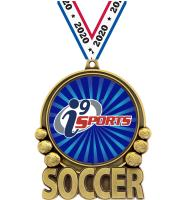 "3"" i9 Sports Double Action Soccer Medals"