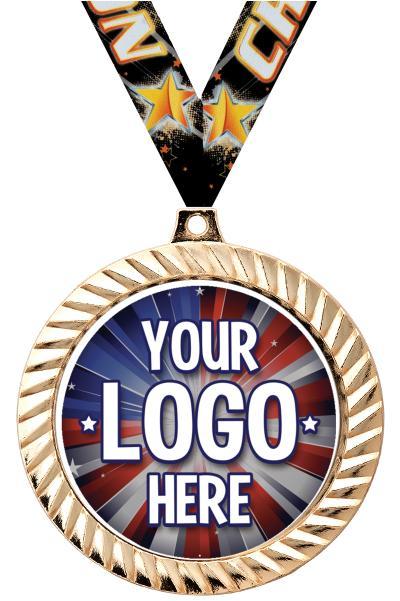 """2 1/2"""" i9 Sports Custom Diamond Cut Medals"""