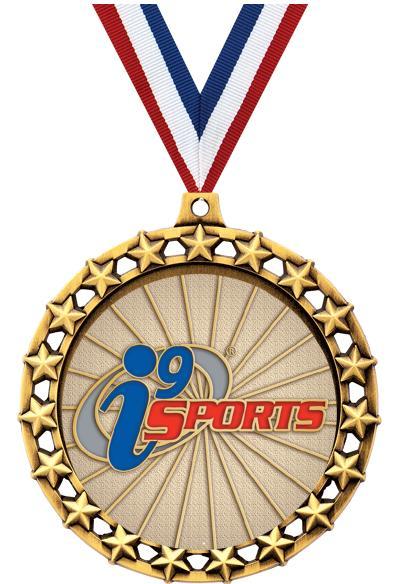 """2 1/2"""" i9 Sports Galaxy Star Blank Medals"""