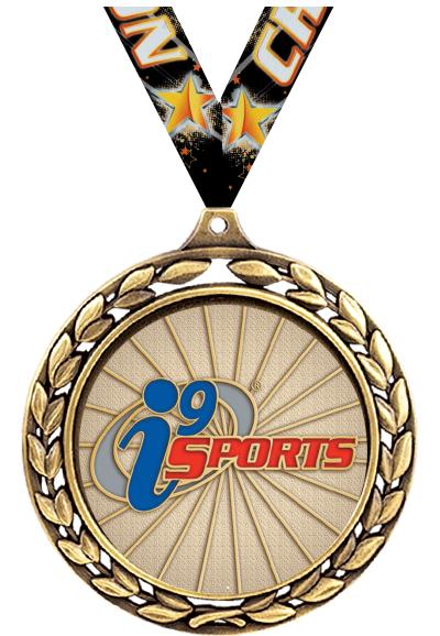 """2 1/2"""" i9 Sports Laurel Wreath Medals"""