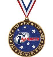 """2 3/4"""" i9 Sports 1st Place Perimeter Medal"""