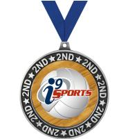 """2 3/4"""" i9 Sports 2nd Place Perimeter Medal"""
