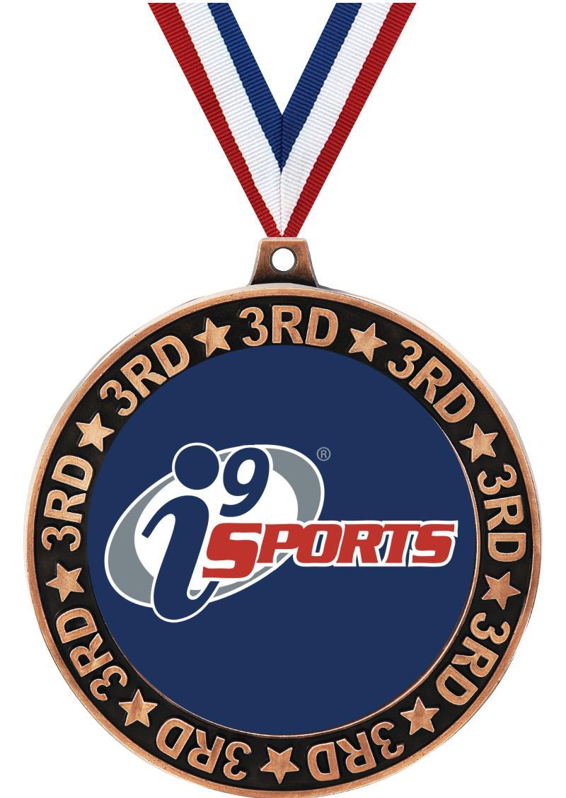 "2 3/4"" i9 Sports 3rd Place Perimeter Medal"