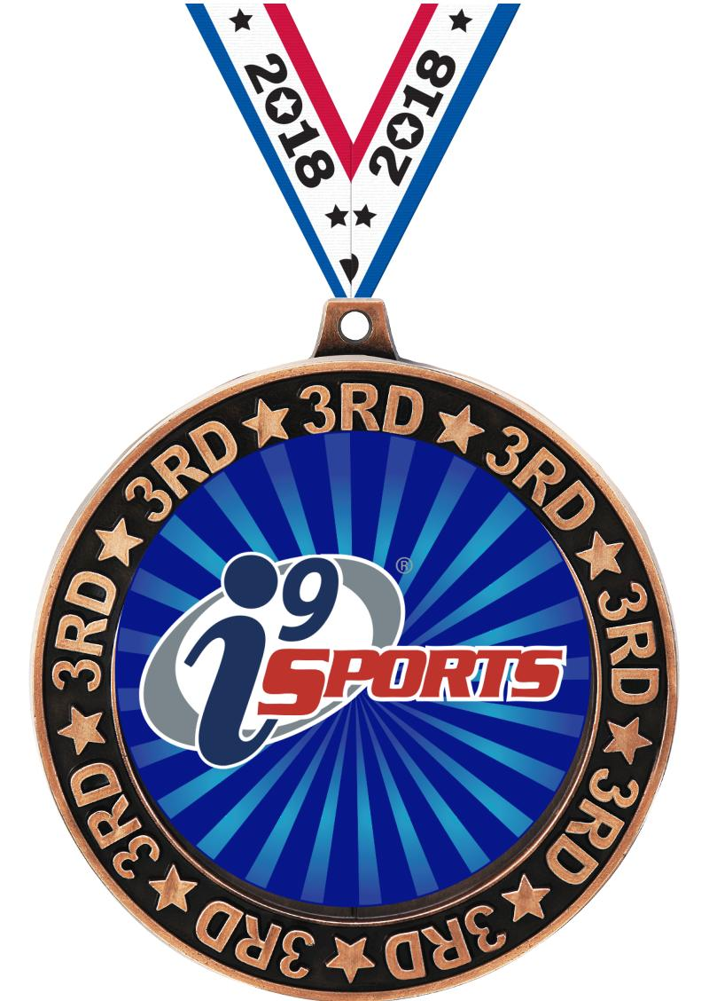 """2 3/4"""" i9 3rd Place Perimeter Medal"""