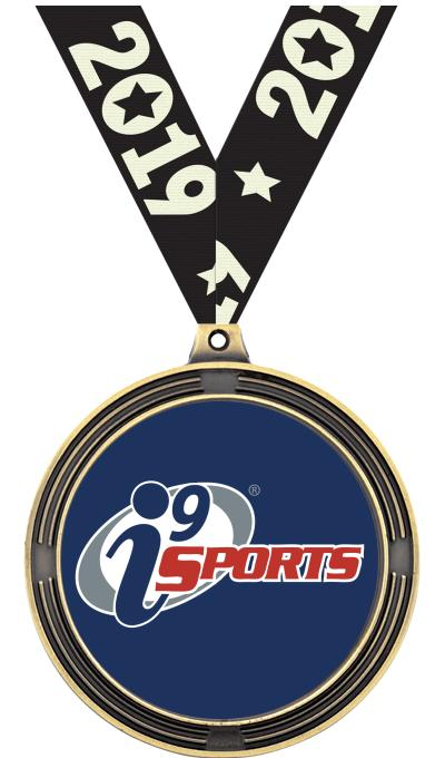 "2 1/2"" i9 Sports Ribbed Insert Medals"