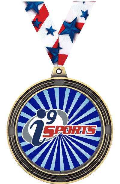 """2 1/2"""" i9 Sports Ribbed Insert Medals"""