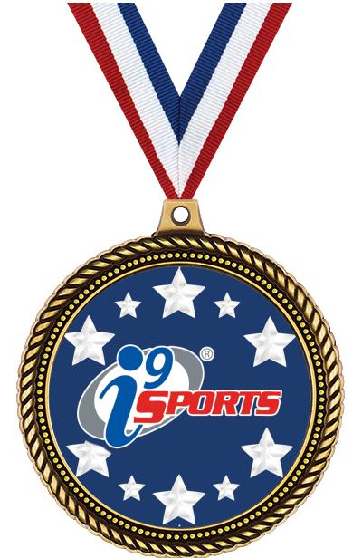 "2 1/2""  i9 Sports Honorable Insert Medals"