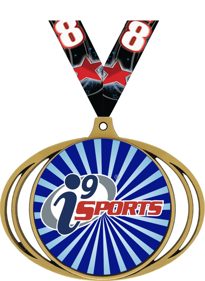 "3"" i9 Sports Elliptical Insert Medals"