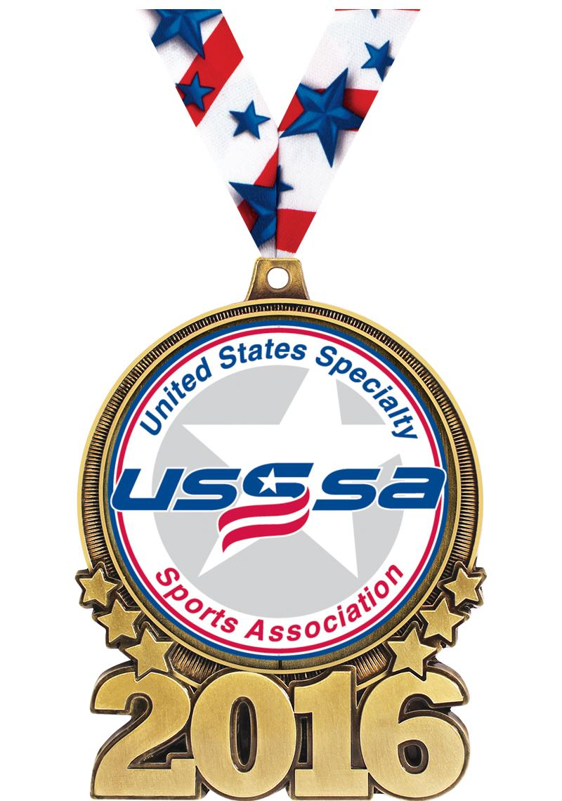 """3"""" USSSA Double Action 2016 Medals"""