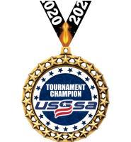 """2 1/2"""" USSSA Galaxy Star Medals"""