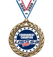 "2 1/2"" USSSA Laurel Wreath Medals"