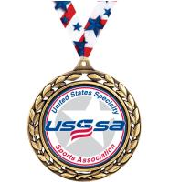 """2 1/2"""" USSSA Laurel Wreath Medals"""