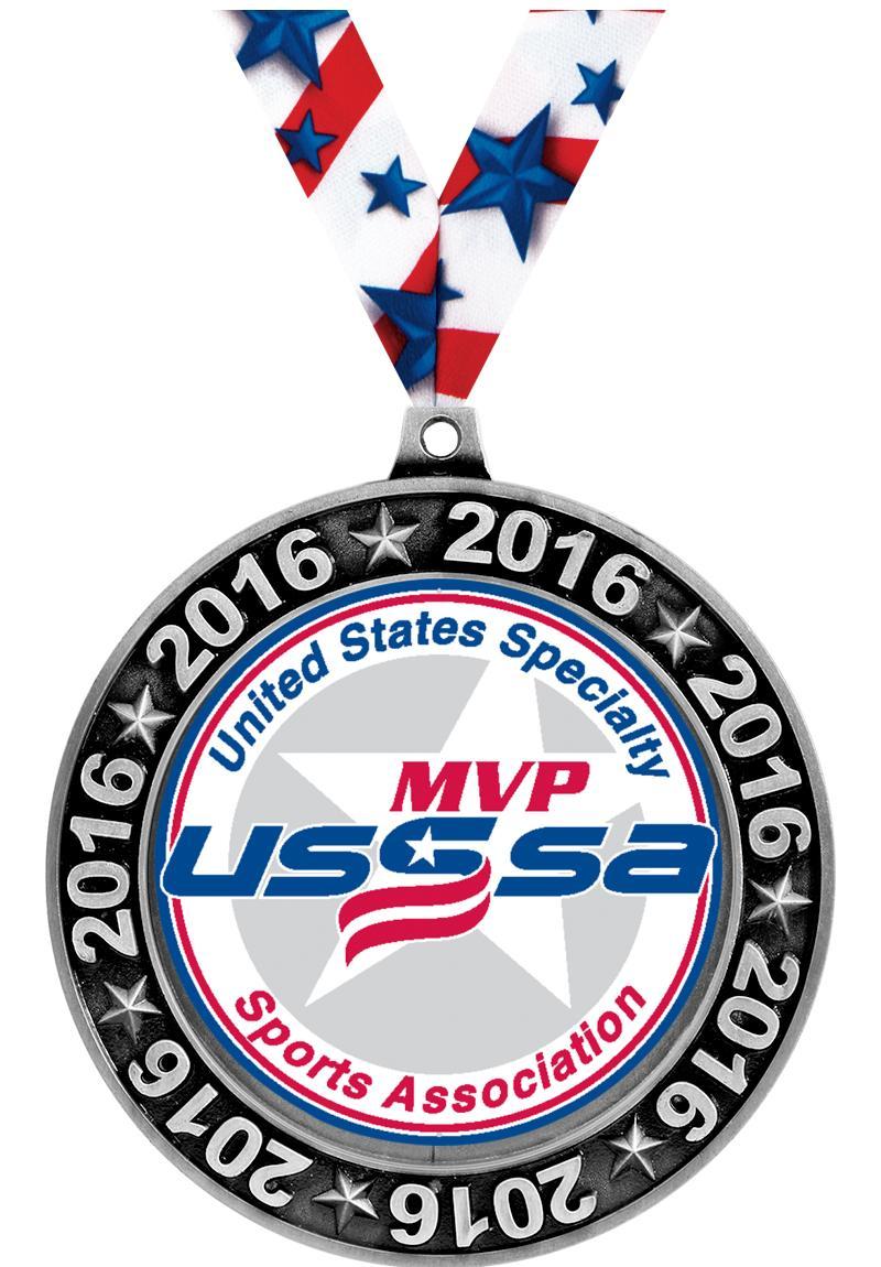 """2 3/4"""" USSSA 2016 Perimeter Medals"""