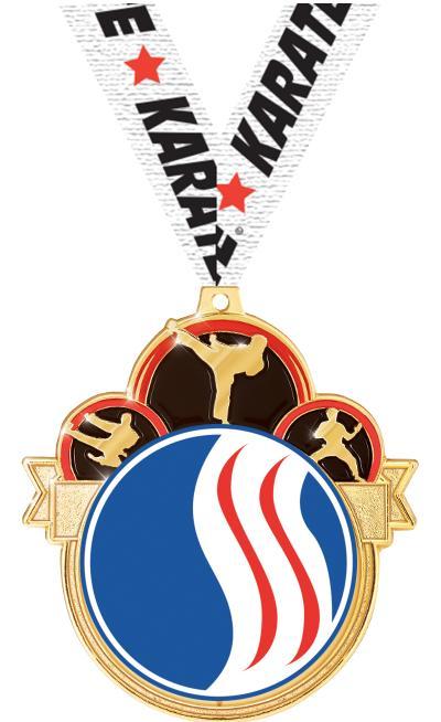 """3"""" USSSA Martial Arts Colorburst Medals"""