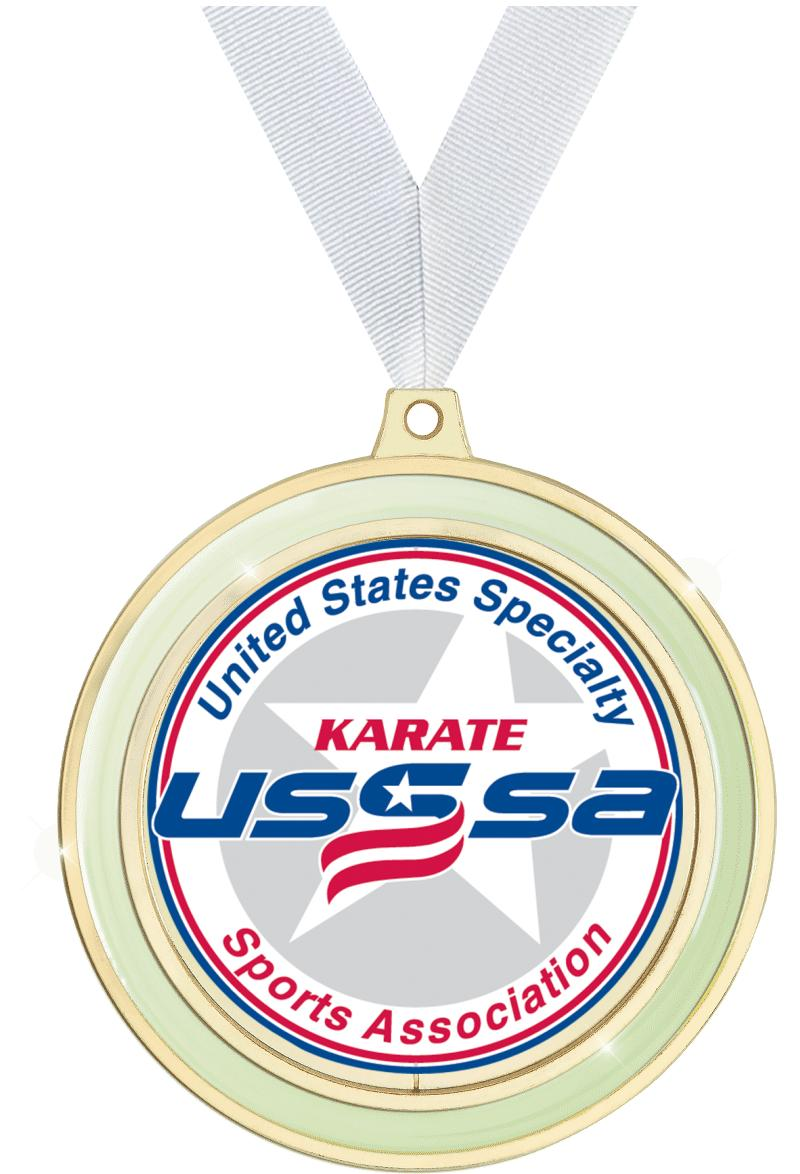 "2 1/2"" USSSA Glow In The Dark Medal"